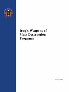 Iraq's Weapons of Mass Destruction Programs Report Cover